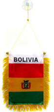 Bolivia Mini Flag Banner For Car Window Or Rear View Mirror
