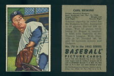 (66706) 1952 Bowman 70 Carl Erskine Dodgers-EX With TAPE