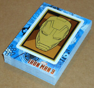 Iron Man 3 (Upper Deck, 2013)~ STICKER INSERT CARD LOT (37 cards total,no dupes)