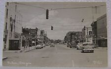 VINTAGE RPPC BAKER CITY OREGON STREET VIEW ADVERTISING OLD CAR HISTORIC POSTCARD