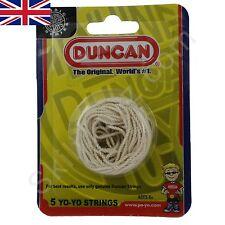 Pack of 5 DUNCAN white Yo-Yo Strings pre-tied suitable for all yo-yos  UK SELLER