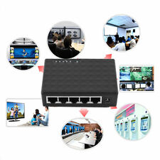 5 Port 100 Mbps Desktop Ethernet Network LAN Power Adapter Switch Hub gd