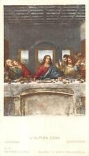 "OLD nice rare Holy cards 1900 ""H8507 ""san LK ultima cena"