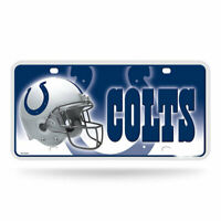 Rico Industries Indianapolis Colts NFL Metal License Plate Tag