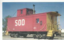 SOO Line Caboose  #224  at Stevens Point  WI   1970 Photo  Reprint    PC RR  3