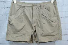 "ROYAL ROBBINS Womens Khaki Shorts - Hiking Campking - Sz 12 100% Nylon 5"" Inseam"