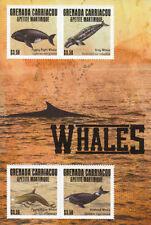 Grenadian Whales Fish & Marine Animals Sheet Postal Stamps