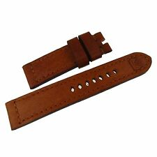 GENIUNE DEER SKIN BROWN MANSAREA WATCH STRAP 24/22MM