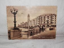 Vecchia cartolina foto d epoca di Bari albergo delle nazioni piazza strada