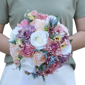 Beautiful Bridal Bouquet Roses Rustic Chic Garden Beach Wedding Brooch Bouquet