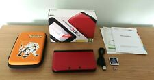 Nintendo 3DS XL Red Handheld Console, Sky3DS+ Card, 64GB MicroSD Case & 4GB SD