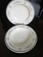 """3 MIKASA FINE CHINA TEA ROSE PATTERN L5577 SOUP BOWL MADE IN JAPAN 8 1/2"""" ROUND"""