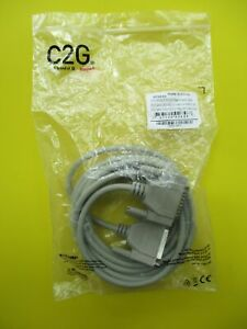 NEW C2G  15 ft   DB25 RS232  MALE TO MALE Serial Parallel Cable