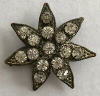 Antique Victorian Paste Gilt 7 Pointed Star Pin Brooch
