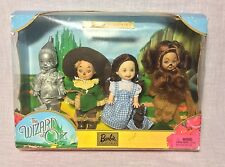 Mattel Barbie Kelly Wizard Of Oz Dorothy Tinman Scarecrow Dorothy Cowardly Lion
