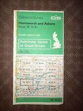"""Ordnance Survey 2.5"""" Map SE41/51 Hemsworth, Askern 1982 South Kirkby, Ackworth"""