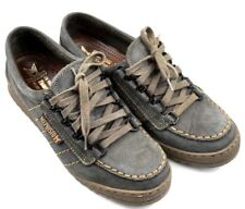 MEPHISTO Women 4.5 Air Relax Trampolins SHOES Gray Nubuck Lace Up Made In France