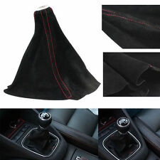Universal Gear Shift Knob Boot Red Line Gear Head Dust Frosted Leather Cover