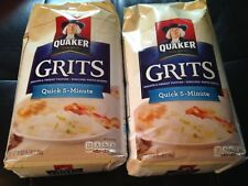 2 BAGS OF QUAKER QUICK GRITS..5 LBS.EACH..CURRENT .DATE
