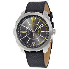 DZ1739 New Genuine DIESEL Machinus Series Watch on Black Leather RRP £135