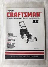 Sears Craftsman Lawnmower Owner's Manual 917.386121 EZ3