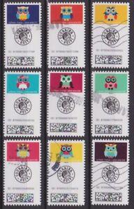 France 2020 : les 9 timbres du Carnet - Chouette - Lettre suivie - oblitérés