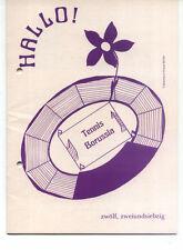 Tennis Borussia Berlin - Vereinsnachrichten HALLO! - Nummer 12 / 1972