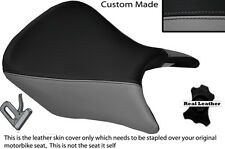 GREY & BLACK CUSTOM FITS HONDA CB 500 13-14 FRONT LEATHER SEAT COVER ONLY