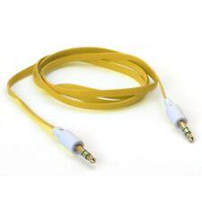 Câble Audio Plat Jack 3.5 mm Mâle à Mâle 1 Mètre Jaune