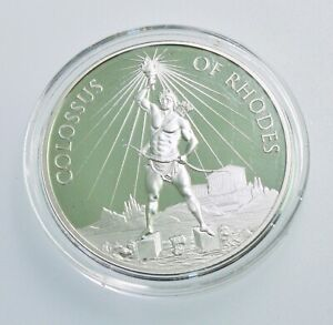 2020 Colossus of Rhodes 1oz .999 Fine Silver Coin 7 Wonders of the Ancient World