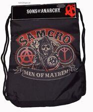 Sons of Anarchy Samcro Men of Mayhem SOA Drawstring Cinch Back Sack Gym Sack