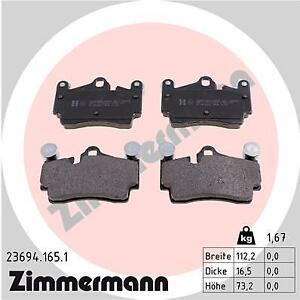ZIMMERMANN Rear Brake Pads 23694.165.1 fits Audi Q7 4LB 3.0 TFSI quattro 4.2 TDI