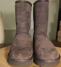 "Ugg Classic Short Womens 5825-CHO Chocolate 8"" Twinface Sheepskin Boots Size 11"