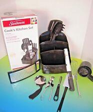 Sunbeam 25-Piece Cook's Kitchen Tool Set, Black NIB