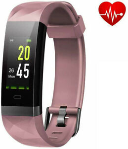 Fitness Trackers with Heart Rate Monitor Waterproof, Calorie Counter Ped