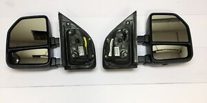 2017-18 FORD SUPERDUTY F250 F350 PAIR OF MANUAL MIRRORS OEM