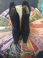 MICHEL PERRY Women's Suede Mid Calf Boot 36.5 Fabulous