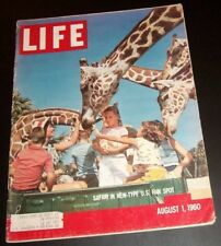 August 1, 1960 LIFE Magazine American 60s Advertising ads ad FREE SHIPPING Aug 8