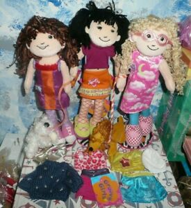 All NEW Lot of  Groovy Girls Dolls, Stands, Pets and Clothes *New with tags
