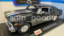 Maisto 1:18 Scale - 1970 Chevy Nova SS - Black - Model Car