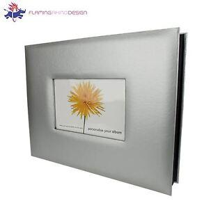 JSP 28 x 22 cm Fine Art Photo Album 20 Pages Silver Finish w/ Photo Insert