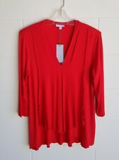 """W.LANE"" BNWT SIZE S (10) POPPY RED TOP, 3/4 SLEEVES"