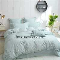 Luxury Egypt Cotton Bedding Set Duvet Cover Bed Sheet Pillowcases Queen King