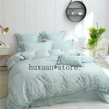 Luxury Egypt Cotton Bedding Set Duvet Cover Bed Sheet Pillowcases Queen King