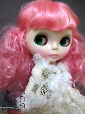 C.C.T Blythe Dal doll outfit furry collar and sleeve jacket (Ivory) c-550