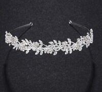 Wedding Bridal party Austrian Crystal sparkly Rhinestone Tiara Headband Silver