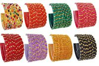 Indian Traditional Glass Bangles Bollywood Ethnic Bangles Costume Wear Jewelry