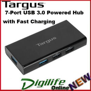 Targus 7 Port USB 3.0 Powered Hub with Fast Charging ACH125AU