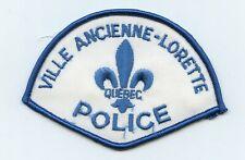 Ville Ancienne-Lorette Police, Quebec, Canada HTF Vintage Uniform/Shoulder Patch