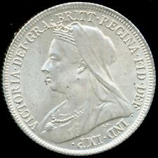 1900 SHILLING Victoria Veiled head Extremely Fine ESC 3165
